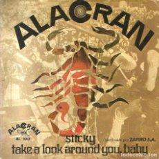 Discos de vinilo: SG ALACRAN ( FERNANDO ARBEX BAND ) : STICKY ( EXCELENTE SONIDO ! ). Lote 165972714