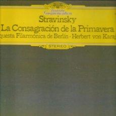 Discos de vinilo: LP. STRAVINSKY. LA CONSAGRACIÓN DE LA PRIMAVERA. (P/B72). Lote 165974162