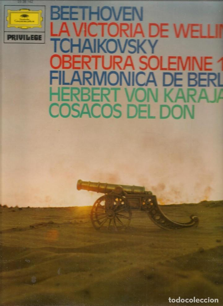 LP. BEETHOVEN / TCHAIKOVSKY / HERBERT VON KARAJAN. (P/B72) (Música - Discos - LP Vinilo - Otros estilos)