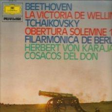 Discos de vinilo: LP. BEETHOVEN / TCHAIKOVSKY / HERBERT VON KARAJAN. (P/B72). Lote 165974430