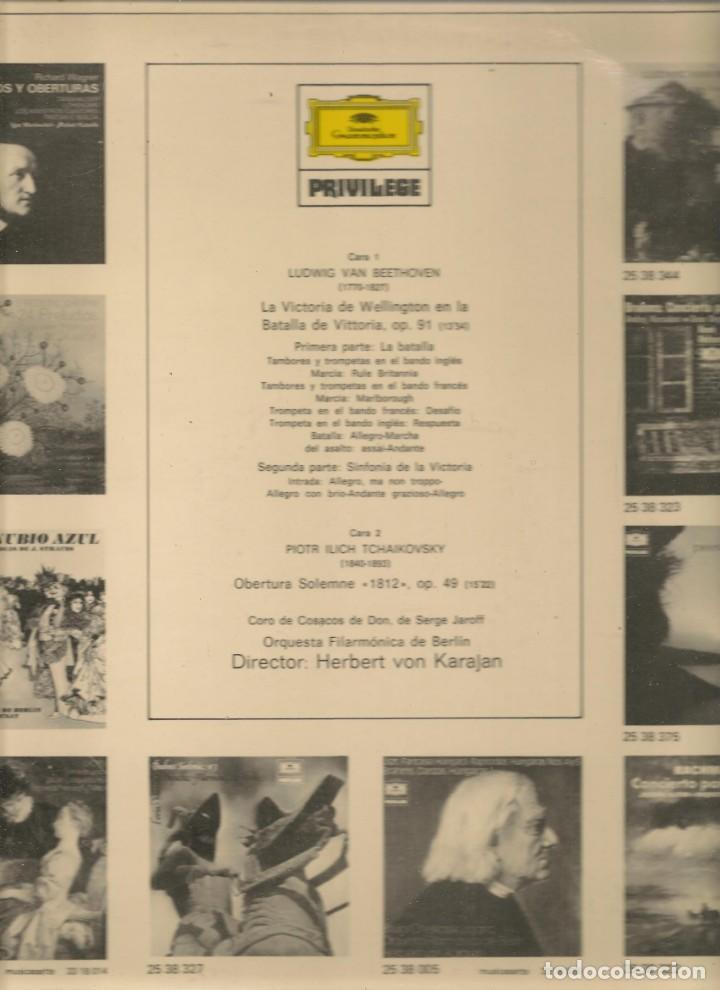 Discos de vinilo: LP. BEETHOVEN / TCHAIKOVSKY / HERBERT VON KARAJAN. (P/B72) - Foto 2 - 165974430