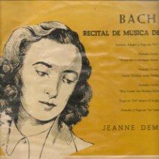 Discos de vinilo: LP. BACH. RECITAL DE MÚSICA DE ÓRGANO. DECCA. (P/B72). Lote 165975154
