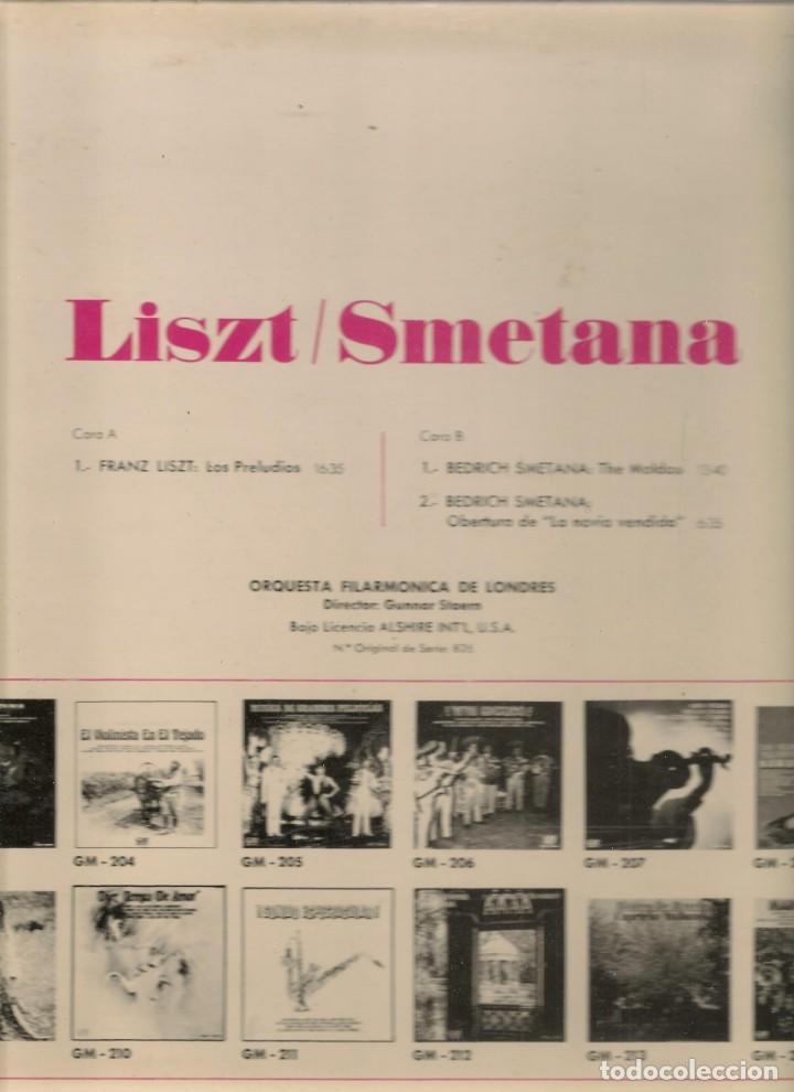 Discos de vinilo: LP. LISZT - SMELANA. ORQUESTA FIMARMÓNICA DE LONDRES. (P/B72) - Foto 2 - 165976262