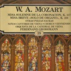 Discos de vinilo: LP. W. A. MOZART. (P/B72). Lote 165976734