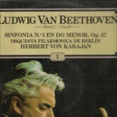 Discos de vinilo: LP. BEETOVEN. SINFONIA Nº 5 EN DO MENOR. OP 67. (P/B72). Lote 165976994