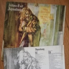 Discos de vinilo: JETHRO TULL - AQUALUNG LP ED ESPAÑOLA CENSURADA CON PORTADA ABIERTA E INSERT. Lote 165984398