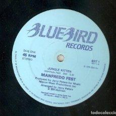 Discos de vinilo: MANFREDO FEST 12 UK MAXI 45 RPM JUNGLE KITTEN 1979 JAZZ FUNK LATIN JAZZ BLUEBIRD BRT1 MUY RARO MIRA!. Lote 165987614