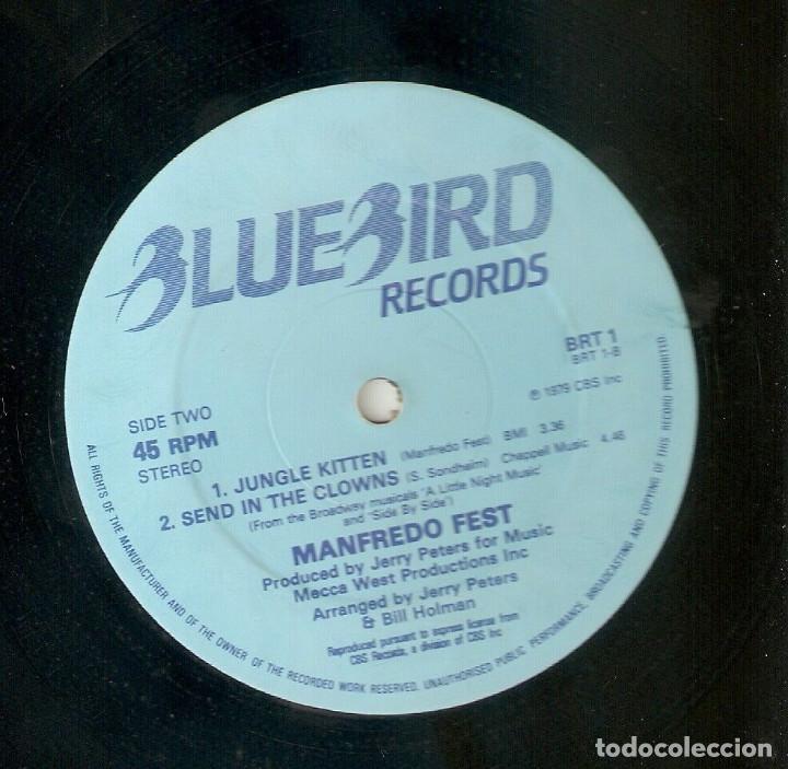 Discos de vinilo: MANFREDO FEST 12 UK MAXI 45 rpm JUNGLE KITTEN 1979 JAZZ FUNK LATIN JAZZ BLUEBIRD BRT1 MUY RARO Mira! - Foto 2 - 165987614