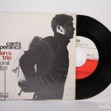 Discos de vinilo: DISCO EP DE VINILO - JORDAN'S TRIO / CANTS D' ESPERANÇA CORAL XALOC - EDIGSA - AÑO 1967. Lote 165995170