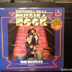 Discos de vinilo: THE BEATLES - HISTORIA DE LA MUSICA ROCK / RARE ALBUM LP VINILO 1981. NM / NM . Lote 165995270