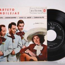 Discos de vinilo: DISCO EP DE VINILO - CUARTETO CANDILEJAS / UN MINUTO, LLEGO EL AMOR... - RCA VICTOR - AÑO 1963. Lote 165995662