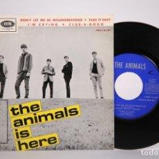 Discos de vinilo: DISCO EP DE VINILO - THE ANIMALS IS HERE / DON'T LET ME BE MISUNDERSTOOD - LA VOZ DE SU AMO, 1965. Lote 165995781