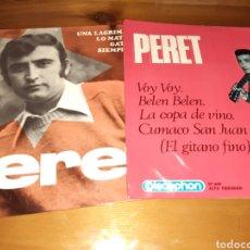 Discos de vinilo: LOTE 2 DISCOS DE VINILO SINGLES PERET. Lote 165997341