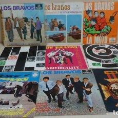 Disques de vinyle: 8 SINGLES LOS BRAVOS Y 1 DE MICKY Y LOS TONYS -. Lote 165997442
