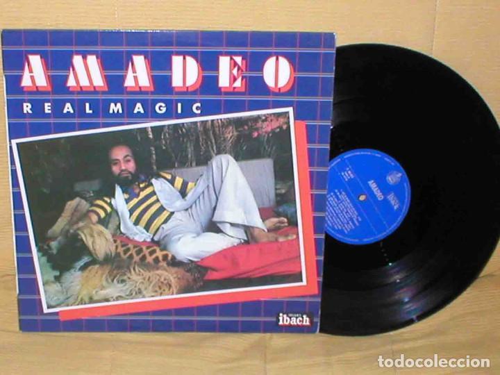 AMADEO SPAIN LP 1979 REAL MAGIC FUNK SOUL ITALO DISCO DISQUES IBACH HISPAVOX MUY BUEN ESTADO MIRA !! (Música - Discos - LP Vinilo - Disco y Dance)