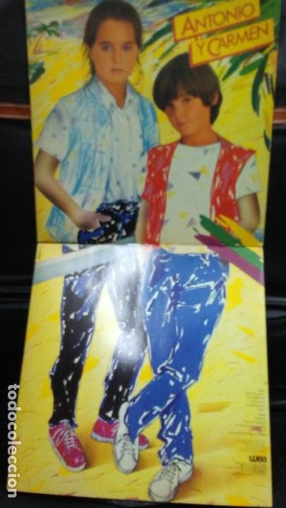 ANTONIO Y CARMEN -LP -LOS HIJOS DE ROCIO DURCAL Y JUNIOR (Música - Discos - LPs Vinilo - Música Infantil)