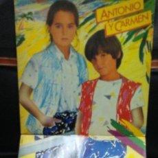 Discos de vinilo: ANTONIO Y CARMEN -LP -LOS HIJOS DE ROCIO DURCAL Y JUNIOR . Lote 166020006