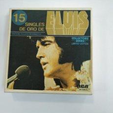 Discos de vinilo: 15 SINGLES DE ORO DE ELVIS PRESLEY. TDKDS13. Lote 166020798