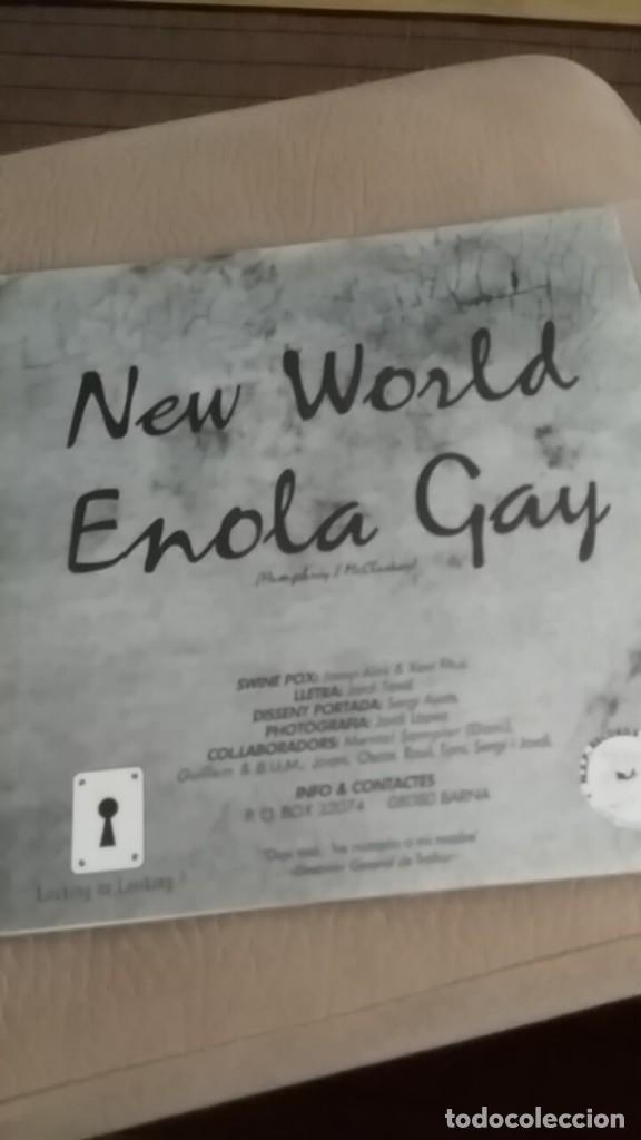 Discos de vinilo: SWINEPOX new world ,enola gay (omd) bcore flexidisc - Foto 2 - 166022906