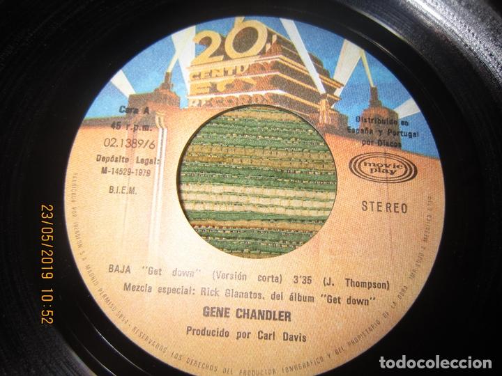 Discos de vinilo: GENE CHANDLER - GET DOWN SINGLE ORIGINAL ESPAÑOL - 20 CENTURY FOX RECORDS 1978 - MUY NUEVO (5). - Foto 3 - 166042510