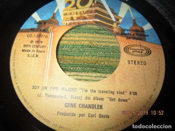 Discos de vinilo: GENE CHANDLER - GET DOWN SINGLE ORIGINAL ESPAÑOL - 20 CENTURY FOX RECORDS 1978 - MUY NUEVO (5). - Foto 4 - 166042510