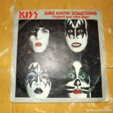 Discos de vinilo: KISS SINGLE 1979 //RARO// SURE KNOW SOMETHING -SEGURO QUE SABE ALGO -DIRTY LIVIN -BUEN ESTADO. Lote 166070438