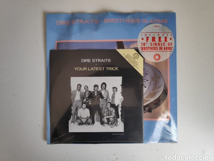 DIRE STRAITS-YOUR LATEST TRICK+BROTHERS IN ARMS. LIMITED EDITION DSTRT13 (Música - Discos de Vinilo - Singles - Pop - Rock Extranjero de los 80)