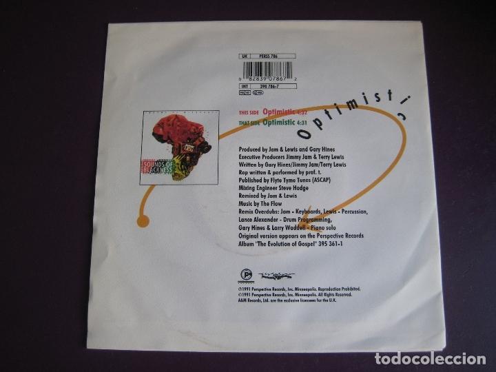 Discos de vinilo: Sounds Of Blackness Sg 1991 Optimistic +1 NEO GOSPEL - DISCO - HOUSE ELECTRONICA - Foto 2 - 166087530