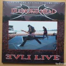 Discos de vinilo: DIAMOND HEAD - EVIL LIVE (LP2) LIVE AT THE NATIONAL BOWL 1993. PRECINTADO !!!!!. Lote 166090930