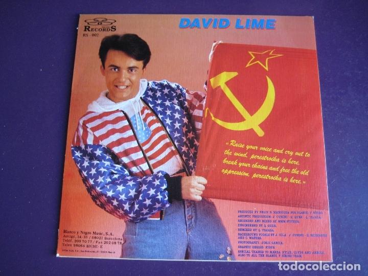 Discos de vinilo: David Lime Sg BLANCO Y NEGRO 1990 - Perestroika +1 ELECTRONICA HOUSE DISCO 90'S - SIN ESTRENAR - Foto 2 - 166122834