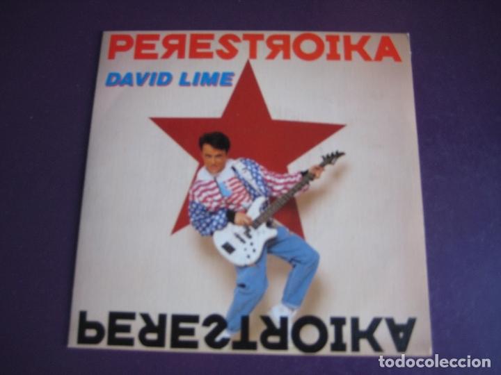 DAVID LIME SG BLANCO Y NEGRO 1990 - PERESTROIKA +1 ELECTRONICA HOUSE DISCO 90'S - SIN ESTRENAR (Música - Discos - Singles Vinilo - Disco y Dance)