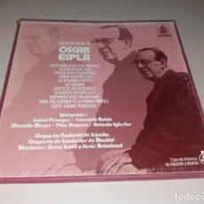 Discos de vinilo: VINILOS. HOMENAJE A ÓSCAR ESPLÁ. HISPAVOX Y CAM, 3 LPS, 1987. Lote 166136154