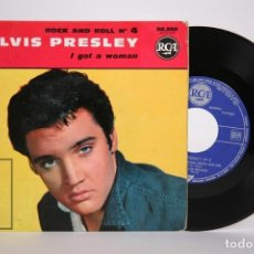 Discos de vinilo: DISCO EP DE VINILO - ELVIS PRESLEY ROCK AND ROLL Nº 4 / I GOT A WOMAN - RCA - 1961 FRANCIA. Lote 166138766