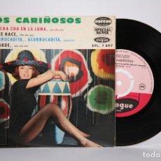 Discos de vinilo: DISCO EP DE VINILO - LOS CARIÑOSOS / CHA CHA CHA EN LA LUNA.... - VOGUE - FRANCIA. Lote 166139830