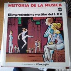 Discos de vinilo: HISTORIA DE LA MÚSICA. EL IMPRESIONISMO Y ESTILOS DEL S. XX. Lote 166164169