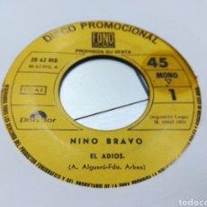 Discos de vinilo: NINO BRAVO SINGLE PROMOCIONAL EL ADIÓS 1970. Lote 166176438