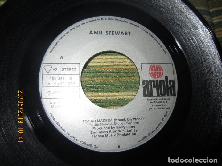 Discos de vinilo: AMII STEWART - TOCAR MADERA SINGLE ORIGINAL ESPAÑOL - ARIOLA RECORDS 1978 - - Foto 3 - 166187502