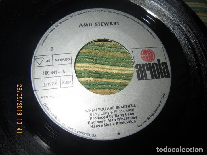 Discos de vinilo: AMII STEWART - TOCAR MADERA SINGLE ORIGINAL ESPAÑOL - ARIOLA RECORDS 1978 - - Foto 4 - 166187502