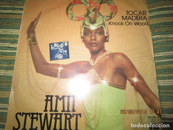 AMII STEWART - TOCAR MADERA SINGLE ORIGINAL ESPAÑOL - ARIOLA RECORDS 1978 - (Música - Discos - Singles Vinilo - Funk, Soul y Black Music)