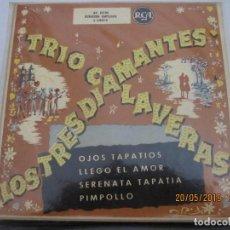 Discos de vinilo: TRIO CALAVERAS / LOS TRES DIAMANTES - OJOS TAPATIOS / LLEGO EL AMOR / SERENATA TAPATIA / PIMPOLLO . Lote 166193030