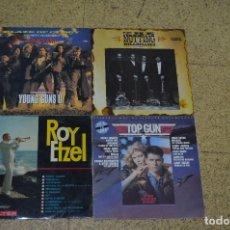 Discos de vinilo: LOTE 4 VINILOS, ROY ETZEL, YOUNG GUNS, TOP GUN, THE NOTHING. Lote 166199234