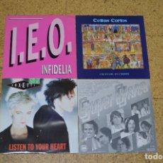 Discos de vinilo: LOTE 4 VINILOS, INFIDELIA, LISTEN TO YOUR HEART, CELTAS CORTOS. Lote 166199814