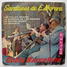 Discos de vinilo: COBLA BARCELONA, SARDANES DE E. MORERA (BELTER 1960). Lote 166207022