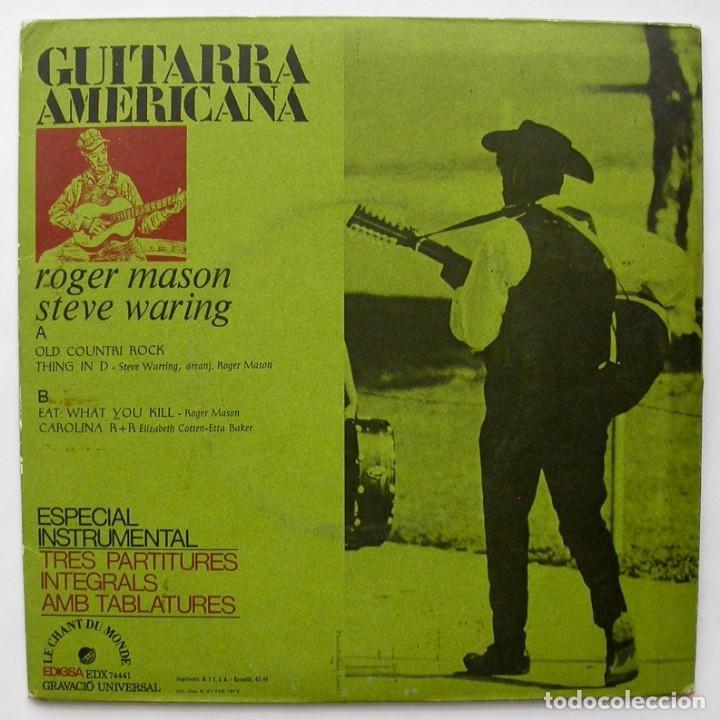 Discos de vinilo: GUITARRA AMERICANA, ROGER MASON/STEVE WARING (LE CHANT DU MONDE 1972) - Foto 2 - 166212382