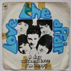 Discos de vinilo: THE LOVE AFFAIR, A DAY WITHOUT LOVE (CBS 1968). Lote 166214010