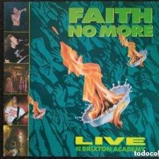 Discos de vinilo: FAITH NO MORE - LIVE AT THE BRIXTON ACADEMY (LP) 1991. Lote 166236486