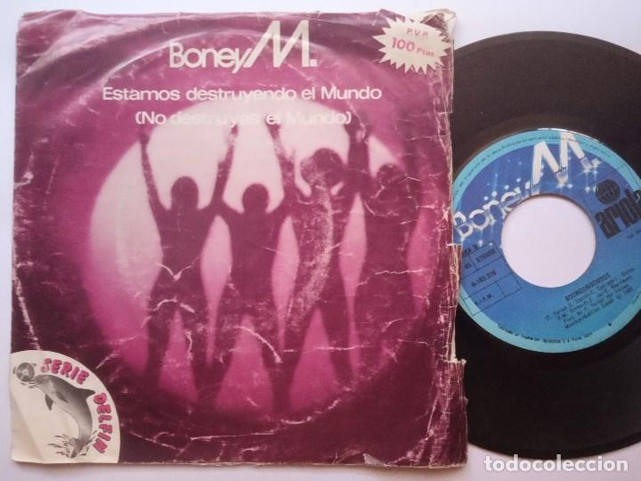 Discos de vinilo: BONEY M - estamos destruyendo el mundo - SINGLE 1981 - ARIOLA - Foto 1 - 166288814