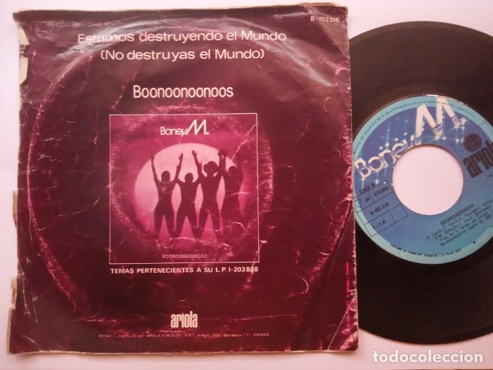 Discos de vinilo: BONEY M - estamos destruyendo el mundo - SINGLE 1981 - ARIOLA - Foto 2 - 166288814