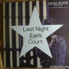 Discos de vinilo: DAVID BOWIE – LAST NIGHT EARLS COURT. Lote 166291514