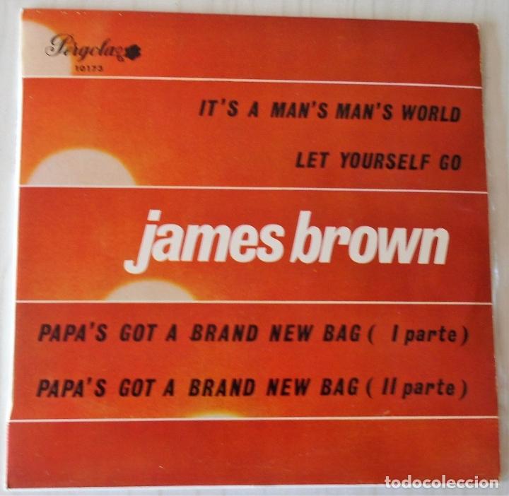 JAMES BROWN - IT´S A MAN´S MAN´S WORLD EP PERGOLA - 1970 (Música - Discos de Vinilo - EPs - Funk, Soul y Black Music)